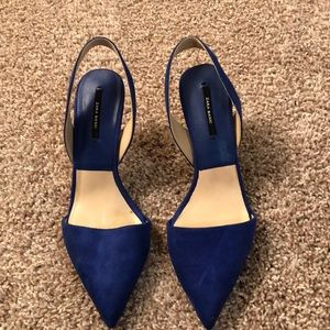 Blue low Zara Basic brand heels